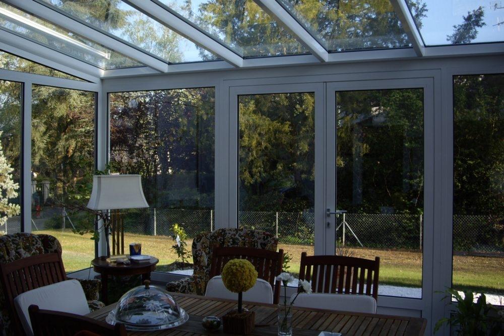 Véranda toiture verre
